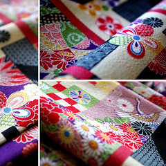 TIRIMEN Fabric (karaku*) Tags: texture japan vintage pattern pentax antique fabric cotton kimono material textiles cloth k100d tirimen