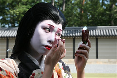 Y U K A K O : Makeup (mboogiedown) Tags: travel woman girl beauty festival japan asian japanese interestingness kyoto asia traditional culture makeup explore maiko geiko geisha gion tradition kansai matsuri ages jidai yukako i500 kobu discoverkyoto
