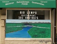 Rio Lempa Mural On Piney Branch Road (Silver Spring, MD) - by takomabibelot