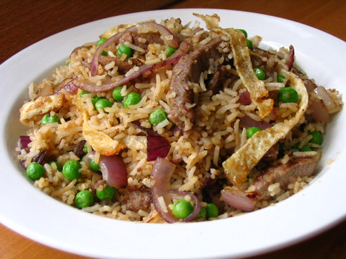 Fried rice of leftovers