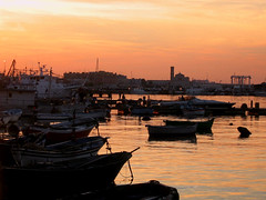 La Mer (My Personal Point of View) Tags: sunset mer tramonto mare song barche porto soe molfetta canzone charlestrenet