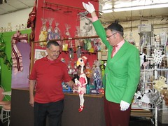 Bob Baker (left) discusses the art of marionette puppeteering. (12/09/2007)