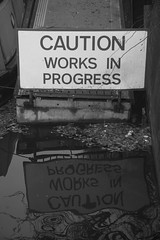Caution Works in Progress & Reflection by u07ch on Flickr