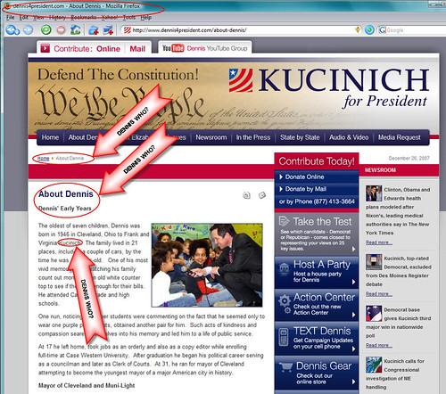 Dennis Kucinich About Dennis Page