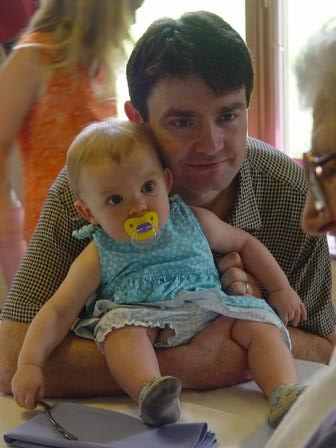 Peanut w/ her daddy and great grampa