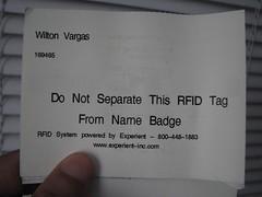 Aviso de RFID