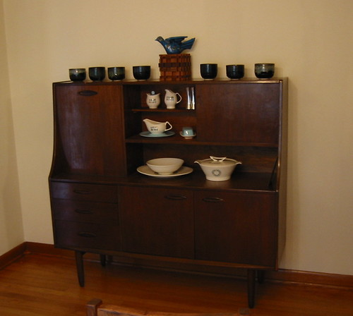 Hutch in dining room