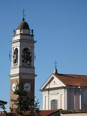 Arluno (Luca Morlok) Tags: tower church paolo bell chiesa campanile dome santi lombardia pietro lombardy arluno towerbell