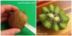 How to make zig-zag kiwifruit