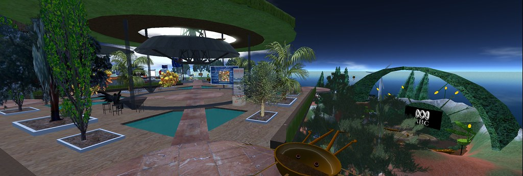ABC Island Second Life Panorama 3000 wide!