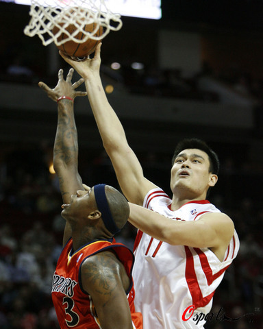 Yao Ming had a monster game against Al Harrington and the Golden State Warriors, scoring 36 points and grabbing 19 boards to lead the Rockets to a very surprising 111-107 victory.