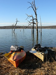 Two For Paddling (FreeWine) Tags: lake heritage oklahoma water perception paddling kayaks okmulgee drippingspringslake
