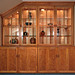 Cherry Stepback Hutch Built-in