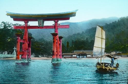Miyajima Torii and Boat - From the Sea