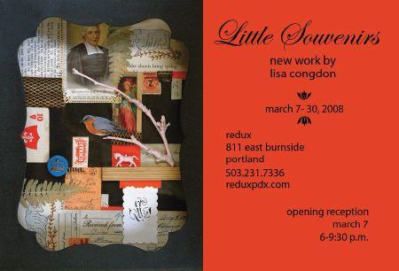 Lisa Congdon's Little Souvenirs at Redux