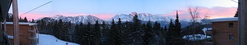 Panorama Alpenglühen