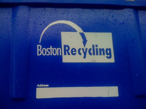 Made in Canada - Boston Recycling Bin Front