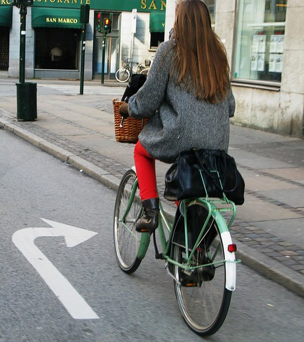 Cycle Chic in Red and Green