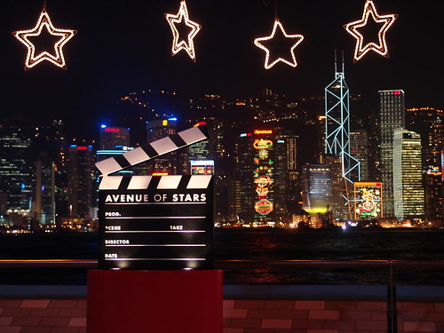 The avenue of stars clapperboard