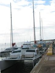 Catamaran @ Port Allen Marina we took to Napali Coast (pinoy_pinay) Tags: hawaii kauai napalicoast