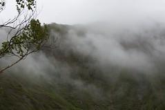 尻別岳の雲が消えて行く