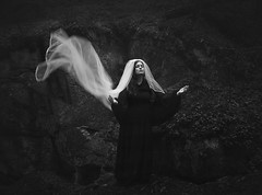 Huldra (Maren Klemp) Tags: fineartphotography fineartphotographer blackandwhite monochrome woman portrait fairytale conceptual veil ethereal nature forest woods outdoors surreal dreamy painterly selfportrait evocative symbolic naturallight artlibres