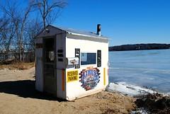 Icehouse on Lake Elizabeth Twin Lakes, Wisconsin (Cragin Spring) Tags: lake ice frozen icehouse beer winter unitedstates usa unitedstatesofamerica rural wisconsin wi southernwisconsin twinlakes twinlakeswi twinlakeswisconsin lakeelizabeth