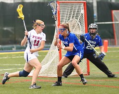 War (MNJSports) Tags: girls college goal women shot duke penn lacrosse ncaa score defense unassisted stickcheck vidasfield
