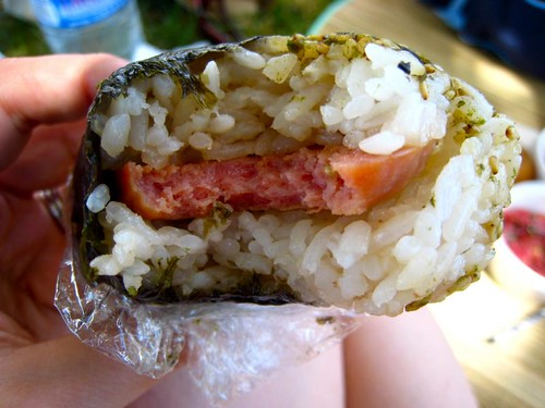The deluxe spam musubi