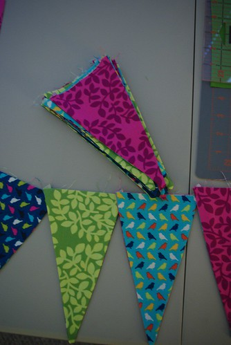 Triangles all made!