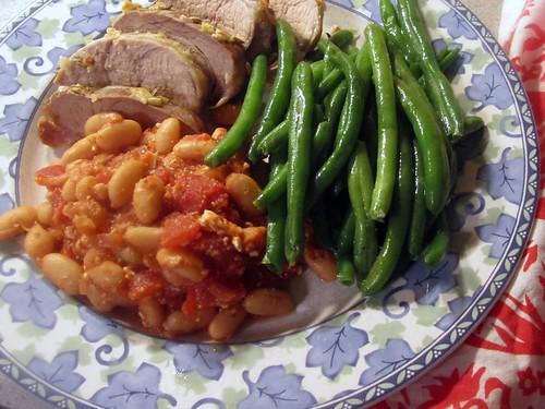Pork Tenderloin w/ Beans & Beans
