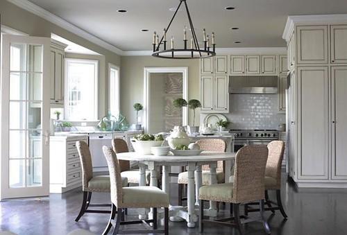white kitchen round table via homindes