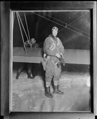Lindbergh flies at night (Boston Public Library) Tags: airpilots lesliejones aviation aviator charlesalindbergh charleslindbergh lindbergh