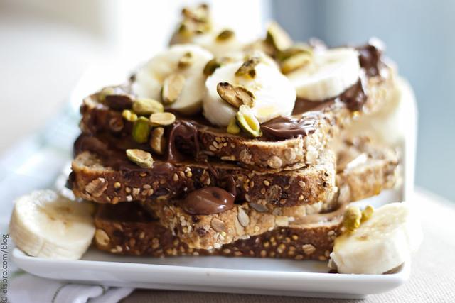 Almond Toast/Nutella/Bananas/Pistachio