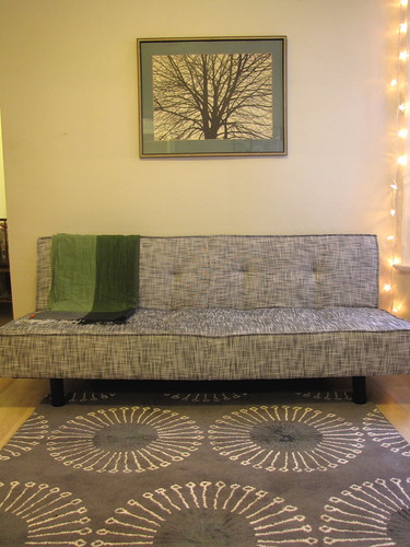 Living Room - couch and rug