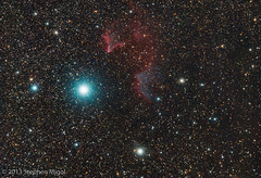 Ghost of Cassiopeia (IC 59 and IC 63) at Calstar 2013 (S Migol) Tags: pentax nebula astrophotography astronomy navi astrophoto cassiopeia smigol sharpless ic59 ic63 pentaxk10d reflectionnebula emissionnebula astrometrydotnet:status=solved stephenmigol stellarvuesv4 calstar2013 copyright2014 astrometrydotnet:id=nova241776 bw486uvir sh2185