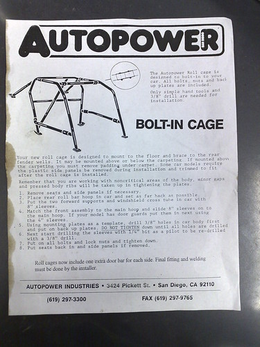Roll cage instructions