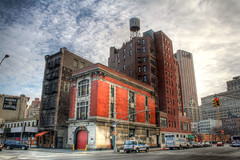 NYFD Hook and Ladder #8 (Ghostbusters Firehouse) (Phillip Ritz) Tags: city nyc newyorkcity travel vacation urban usa newyork building architecture canon cityscape tribeca gothamist firehouse hdr ghostbusters lowermanhattan 5photosaday