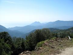 Montée à Puscaghja : sur la piste de Serriera en été