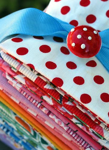 Vintage Fabric Rainbow