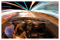 The  Science  of Speed (Drew Wilson Photography) Tags: city longexposure favorite car night speed lights for this is photo interestingness interesting nikon flickr published florida tripod drew convertible wideangle nikond50 fisheye professional explore nighttime views sarasota fl 100 lighttrails bookcover 5000 pure frontpage dank 180degrees congrats cartrails superwide 10000views 5000views 7000views explorefrontpage 000views pearsoneducation tokina1017mm excellentphotographerawards
