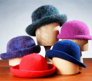 Ravelry: Crocheted Felt Hats (AC11) pattern by Bev Galeskas