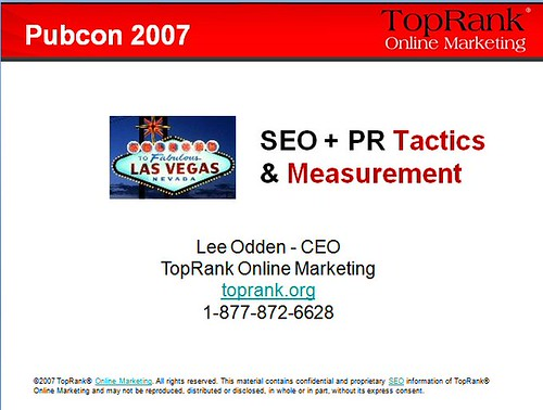 SEO PR Tactics Measurement