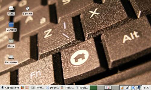 eeeXubuntu desktop