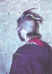 Me, Marshall Astor, Circa 1998-99 (Marshall Astor - Food Fetishist) Tags: portrait me dreadlocks hoodie sideburns batik backofmyhead marshallastor