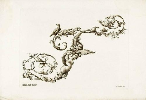 Mauro Poggi 1750 ornamental letter