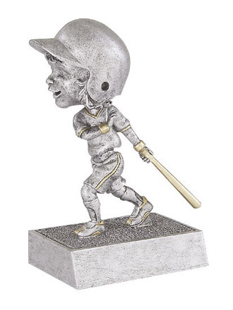 Baseball participation awards: female bobblehead resin