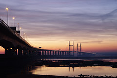 Second Severn Crossing (Colin Hodges) Tags: bridge canon bristol geotagged 300d dusk severn geo:lat=51570120 geo:lon=2664925