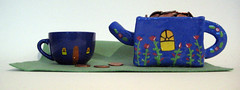 Teahouse and cup (valgalart) Tags: theory illustrationfriday fengshui teacup teahouse valeriewalsh teahouseandcup
