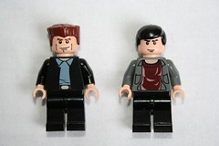 Jack Harkness and the ninth Doctor (Spielbrick Films) Tags: lego doctorwho minifig christophereccleston jackharkness johnbarrowman ninthdoctor